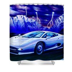 Jaguar 220 Shower Curtain by Garry Walton