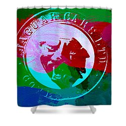 Jaguar Badge Shower Curtain by Naxart Studio