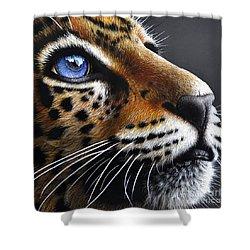 Jaguar Cub Shower Curtain by Jurek Zamoyski