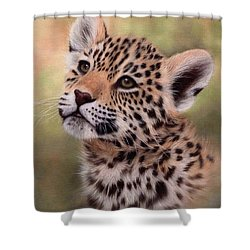 Jaguar Cub Painting Shower Curtain