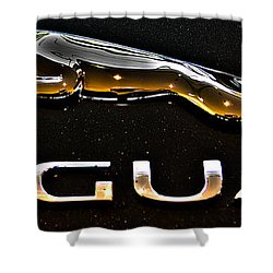 Jaguar Leaper F-type Spoiler Shower Curtain