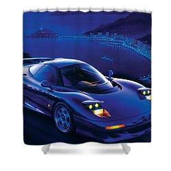 Jaguar Xjr-15 Shower Curtain by Garry Walton