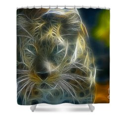 Jaguar208-fractal Shower Curtain by Gary Gingrich Galleries