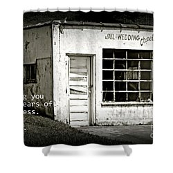 Jail And Wedding Chapel Shower Curtain