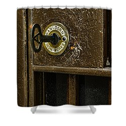 Jail Cell Door Lock  And Key Close Up Shower Curtain by Paul Ward