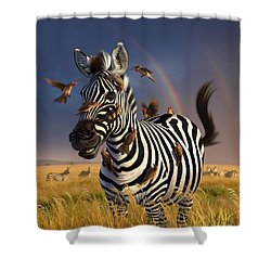 Jailbird Shower Curtain