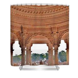 Jain Temple Entrance - Amarkantak India Shower Curtain by Kim Bemis