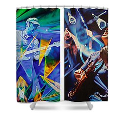 Shower Curtain featuring the painting Jake And Brendan by Joshua Morton