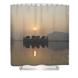 Jal Mahal In Sunrise Shower Curtain
