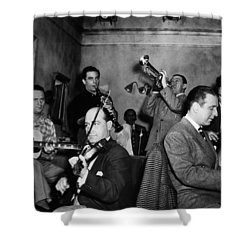 Jam Session, 1947 Shower Curtain by Granger