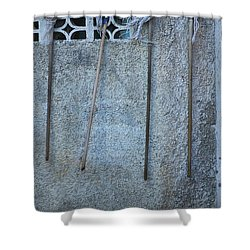 Jamaican Mops Shower Curtain by Randy Pollard