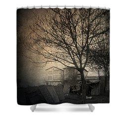 Jamais Vu Shower Curtain by Taylan Apukovska
