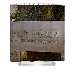 James Dean James Dean Shower Curtain by Janice Rae Pariza