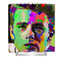 James Dean Portrait Shower Curtain