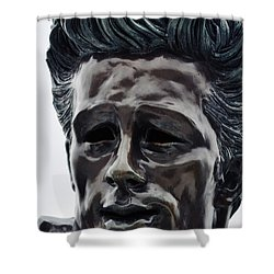 Shower Curtain featuring the photograph James Dean The Rebel by Kyle Hanson