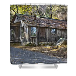 James Marshall Cabin Shower Curtain