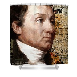 James Monroe Shower Curtain by Corporate Art Task Force
