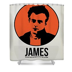 James Poster 1 Shower Curtain by Naxart Studio
