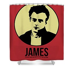 James Poster 2 Shower Curtain by Naxart Studio