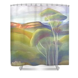 Jamison Valley Blue Mountains National Park Nsw Australia Shower Curtain
