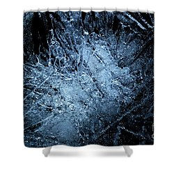 Shower Curtain featuring the photograph jammer Frozen Cosmos by First Star Art