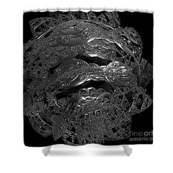 Jammer Silver City Planet Shower Curtain by First Star Art