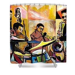Jammin N Rhythm Shower Curtain