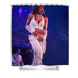Janet Jackson-01 Shower Curtain by Timothy Bischoff