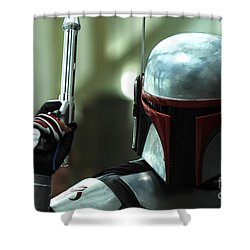 Jango Fett Shower Curtain by Micah May
