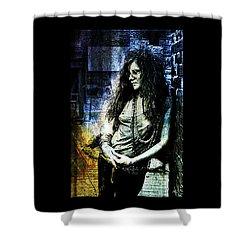 Janis Joplin - Blue Shower Curtain