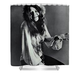 Janis Joplin Shower Curtain by Daniel Hagerman