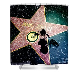 Janis Joplin Shower Curtain by Nina Prommer