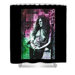 Janis Joplin - Pink Shower Curtain