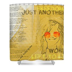 Janis Joplin Song Lyrics Bobby Mcgee Shower Curtain