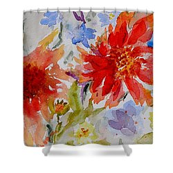 Jann's Gaillardia Shower Curtain by Beverley Harper Tinsley