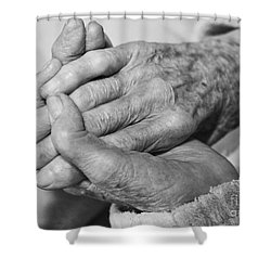 Jan's Hands Shower Curtain