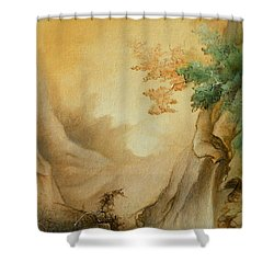 Japanese Autumn Shower Curtain by Sorin Apostolescu