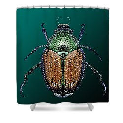 Japanese Beetle Bedazzled II Shower Curtain