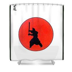 Japanese Bushido Way Of The Warrior Shower Curtain by Gordon Lavender
