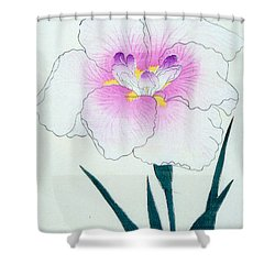 Japanese Flower Shower Curtain by Japanese School
