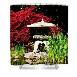 Shower Curtain featuring the photograph Japanese Garden by Angela DeFrias