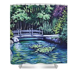 Japanese Garden Bridge San Francisco California Shower Curtain