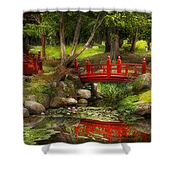 Japanese Garden - Meditation Shower Curtain