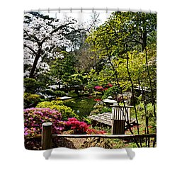 Japanese Gardens Shower Curtain by Holly Blunkall