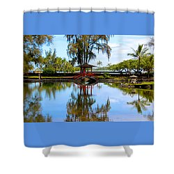 Japanese Gardens Shower Curtain by Venetia Featherstone-Witty