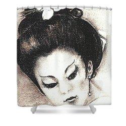 Japanese Girl. Shower Curtain