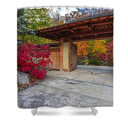 Shower Curtain featuring the photograph Japanese Main Gate by Sebastian Musial