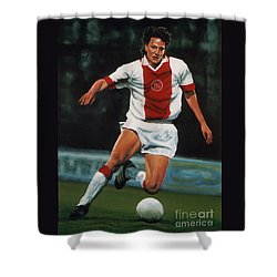 Jari Litmanen Shower Curtain by Paul Meijering