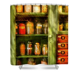 Jars - Ingredients II Shower Curtain by Mike Savad