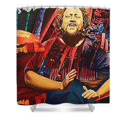 Shower Curtain featuring the painting Jason Hann At Horning's Hideout by Joshua Morton